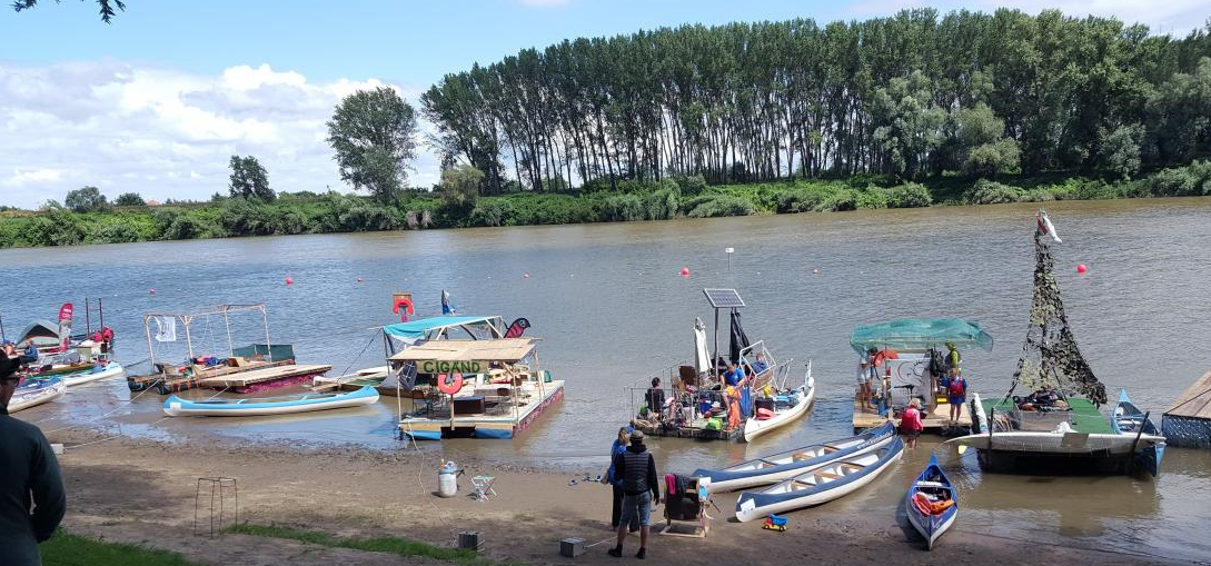Plastic Cup event at Tisza River