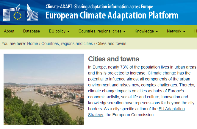 Kép forrása: http://climate-adapt.eea.europa.eu/countries-regions/cities